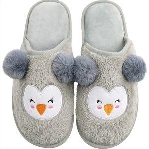 Cute Penguin Home Slippers for Women